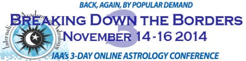 IAA Online Astrology Conference 2016: Breaking Down the Borders 4 : November 18-20, 2016
